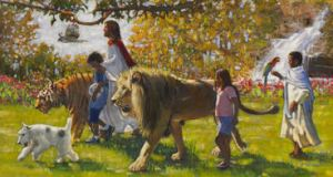 walking with Christ in the garden